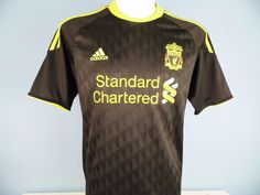Authentic Liverpool 2010-11 Third 3rd Shirt Size Small Adidas Standard Chartered