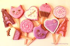 WHITEDAY Lolipop cookies