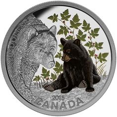 Fine Silver Coin: 2015 $20 Fine Silver Coin Baby Animals: Black Bear...!!!