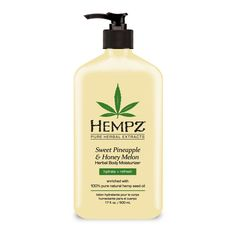 Hempz Sweet Pineapple & Honey Melon Herbal Body Moisturizer helps nourish, moisturize, protect and condition your skin. Hempz Lotion, Body Lotion, Organic Hemp Seeds, Herbal Extracts, Herbalism, Skin Care, Ebay, Seed Oil, 100 Pure