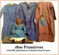 1800 Primitives, 19th Century early American antiques: painted pieces, bucket benches, cabinets, dry sinks, functional early farm pieces, early rag dolls, rag balls, folk art, early children's textiles, apothecaries and more.