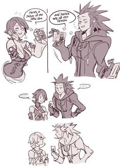 Funny. Now there needs to be one of Roxas and Ven comparing Sora and Vanitus.