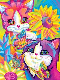 Brushstroke Kittens Art Print by Lisa Frank at Art.com