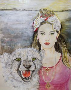 """Saatchi Art is pleased to offer the drawing, """"NOLI ME TANGERE,"""" by Gitta Landgraf. Original Drawing: Pencil, Acrylic, Watercolor on Paper. Noli Me Tangere, Watercolor Pencils, Watercolor Art, Pencil Drawings, Art Drawings, Fantasy Drawings, Paper Artist, Surreal Art, Limited Edition Prints"""