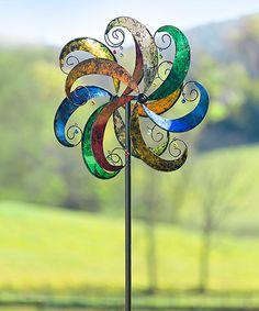 Multicolor Jingle Scroll Wind Spinner Kinetic Garden Stake by Plow & Hearth #zulily #zulilyfinds