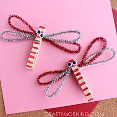 clothespin dragonflies craft