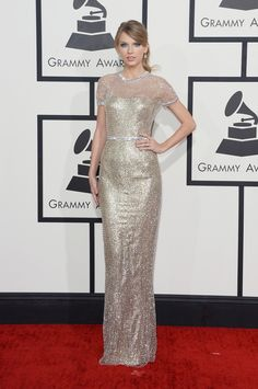 Taylor Swift | Fashion On The 2014 Grammy Awards Red Carpet