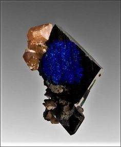 Azurite with Wulfenite