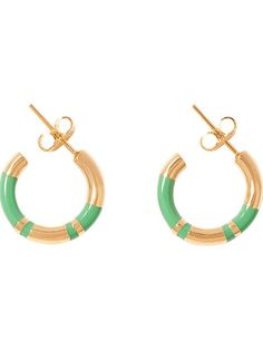 Aurelie Bidermann 'positano' Small Hoop Earrings -  - Farfetch.com