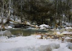 RaymarArt Painting Competition Entry: winter landscape oil ...