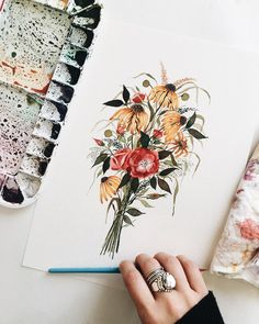 "1,703 Likes, 22 Comments - Shealeen Louise (@shealeenlouise) on Instagram: ""Good-morning and happy Sunday! ✨ I loved working on this bouquet commission this past week. Worked…"""