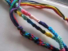 Friendship bracelets. Something creative to do with your kids this summer.