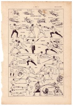 Fencing [vintage infographic (1924)] Repinned by Hub City Fencing Academy of Edison, NJ.