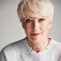Emma Thompson stars in by alongside Jessica Hynes, Rory Kinnear, Anne Reid and… Short Hairstyles Over 50, Pixie Hairstyles, Short Hair Older Women, Short Hair Cuts, Pixie Cut Styles, Short Hair Styles, Rory Kinnear, Platinum Blonde Pixie, Emma Thompson