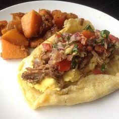 Happy Monday ☕️☕️☕️ can't beat a great @5280meat pork breakfast taco all rolled up in @stupideasypaleo Paleo Tortillas (@flavorgod garlic added) Thank GOD for breakfast  #paleo #hashtagpaleo #primal #glutenfree #grainfree #keepitpaleo #jerk #psbreakfast #taco #love #instafood #instagood #pico #progressnotperfection K