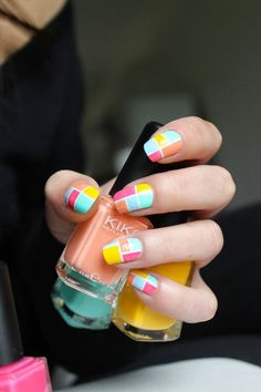 Nail art mosaïque #v