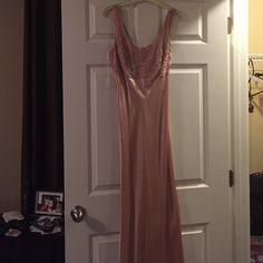 Pink evening dress Pink, form-fitting, sequin top Dresses