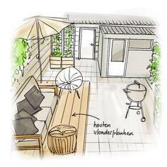 Landscape Sketch, Landscape Drawings, Backyard Hammock, Garden Design Plans, Garden Makeover, Terrace Design, Outdoor Landscaping, Architecture, Garden Inspiration