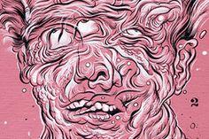 Andres Guzman – view more (intriguing) images @ http://www.juxtapoz.com/Illustration/andres-guzman –#illustrations #triplevision #pinkman