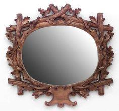Rustic Continental mirror wall mirror oak