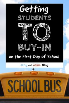 Getting Students to Buy-In on the First Day of School