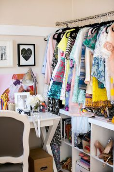 Julia Engel, from Gal Meets Glam, and her stylish closet full of color.