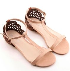 Korean Style Wedge Sandals Shoes Red Red SD0375