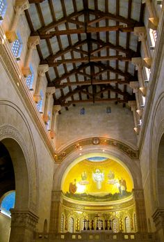 The Church of Jesus' Transfiguration, Mount Tabor, www.ffhl.org #Franciscan #HolyLand