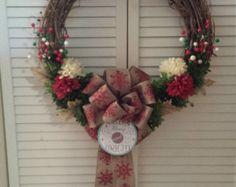 Christmas Wreath by WreathsByPalumbo on Etsy