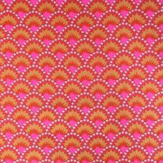 Tissu Petit Pan - Coupon pur coton Wasabi rouge