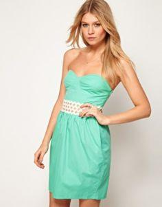 ASOS Mint Green Tube Dress - $42