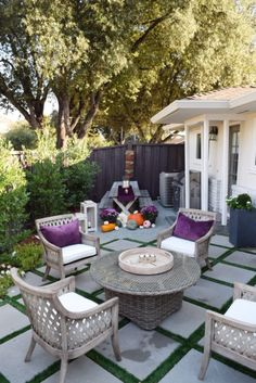 Add a few accessories in deep, rich Fall colors to your patio for continued outdoor entertaining. HomeGoods Sponsored Pin.