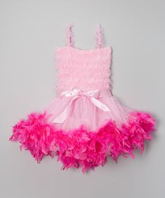 Take a look at this Pink Feather Dress - Infant, Toddler & Girls today!