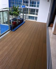 Worrying that the intense sunlight could cause serious affection to your decking? evoDECK makes an excellent choice for outdoor exposure as it is also UV resistant to discolouration so the natural beauty of evoDECK can be retained for a longer period. Outdoor Decking, Outdoor Decor, Balcony Design, Sunlight, Teak, Singapore, Natural Beauty, Period, Condo