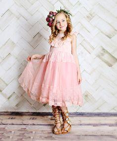 Dark Pink Lace Dress - Toddler & Girls