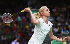 Natalia Perminova of Russia plays a shot during her Women's Singles Group match against Tzu Ying Tai of Chinese Taipei on Day 9 of the Rio 2016 Olympic Games at Riocentro - Pavilion 4 on August 14, 2016 in Rio de Janeiro, Brazil.
