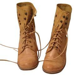 71c7e5e9e3e7 Forever 21 Tan Combat Boots Booties Size US 8 Regular (M