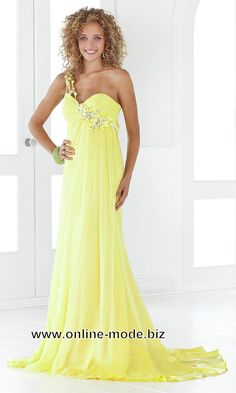 Romantiches Abendkleid in Gelb von www.online-mode.biz