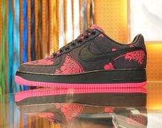 Airside Nippon x NIKEiD Air Force 1 Low Bespoke iD 2012   Chrysanthemum