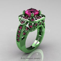 Art Masters Classic 14K Green Gold 2.0 Ct Pink by artmasters, $3199.00