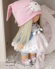 Baby doll toy Tilda doll Interior doll Art by AnnKirillartPlace Doll Crafts, Diy Doll, Clay Dolls, Doll Toys, Pretty Dolls, Beautiful Dolls, Best Baby Doll, Homemade Dolls, Sewing Dolls