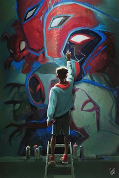 My piece from the Gallery Nucleus Into the. Spiderman into the spider verse Marvel Comics, Marvel Fan, Marvel Memes, Marvel Avengers, Rogue Comics, Spiderman Marvel, Amazing Spiderman, Spiderman Kunst, Spiderman Poster