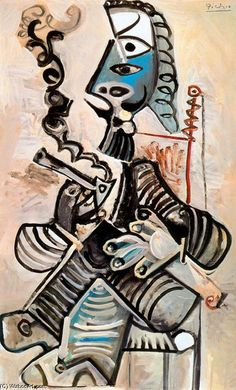 Hombre con pipa, óleo de Pablo Picasso (1881-1973, Spain)