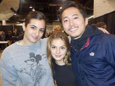 Alanna, Brighton, and Steven at Walker Stalker Con Chicago - Fangirl - The Walking Dead
