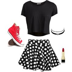 Designer Clothes, Shoes & Bags for Women Charlotte Russe, Polyvore Fashion, Skater Skirt, Converse, Pop, Shoe Bag, Skirts, Stuff To Buy, Shopping