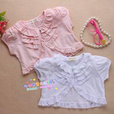 100% cotton female child cape child short-sleeve cape summer female child princess lace shrug cardigan sunscreen $28.85