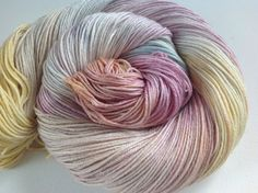 Hand painted 50/50 merino silk 4 ply yarn 380 by Artemisknits
