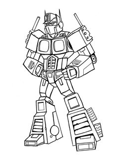 Boulder Bot Coloring Pages For Kids Printable Free