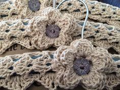 Crochet coat hanger cover
