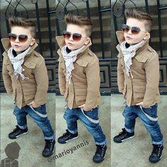 35 Ideas for fashion kids cute hair Little Boy Outfits, Little Boy Fashion, Baby Boy Fashion, Fashion Kids, Toddler Fashion, Fashion 2016, Fashion Clothes, Fashion Tights, Cute Fashion